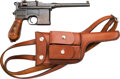 Handguns:Semiautomatic Pistol, Mauser Model 96 Broomhandle Semi-Automatic Pistol with LeatherHolster.... (Total: 2 Items)