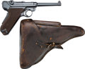 Handguns:Semiautomatic Pistol, Swiss Simson & Co. Commercial Luger Semi-Automatic Pistol with Leather Holster.... (Total: 2 Items)