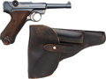 Handguns:Semiautomatic Pistol, German DWM 1915 Luger Semi-Automatic Pistol with Leather Holster.... (Total: 2 Items)