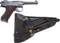 Handguns:Semiautomatic Pistol, Swedish Husqvarna Model 40 Semi-Automatic Pistol with LeatherHolster.... (Total: 2 )