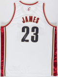 Basketball Collectibles:Uniforms, 2003-04 LeBron James Signed Cleveland Cavaliers Rookie Jersey. ...
