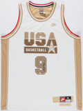 Basketball Collectibles:Uniforms, 2000's Michael Jordan Signed Team USA Jersey. ...