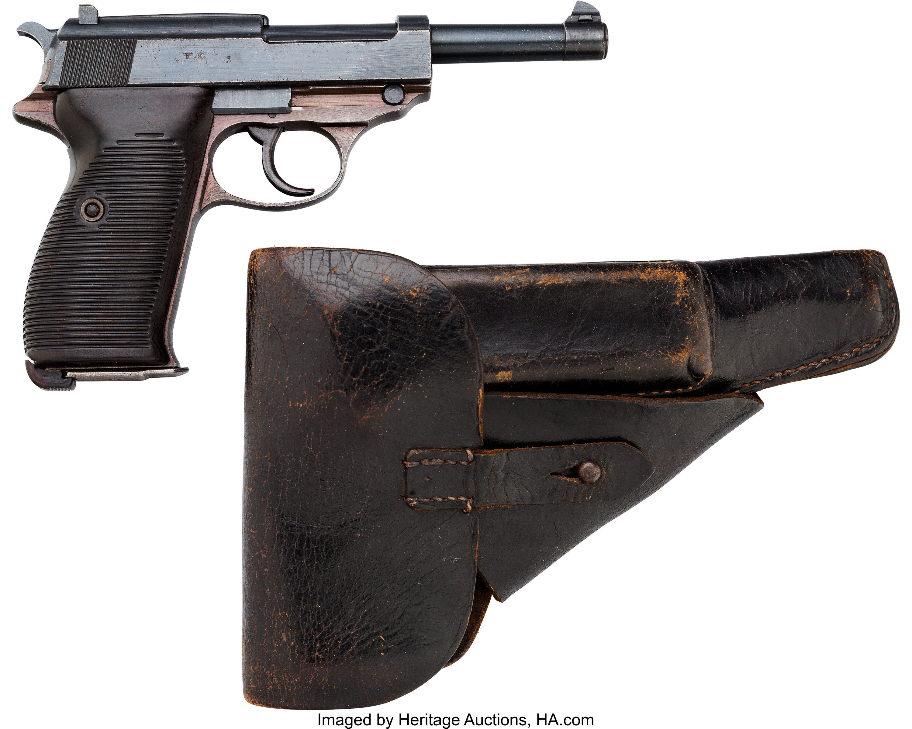 Walther Model P 38 Semi-Automatic Pistol with Holster