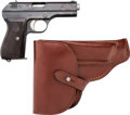 Handguns:Semiautomatic Pistol, CZ Model 27 Semi-Automatic Pistol with Leather Holster.... (Total:2 Items)