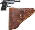Handguns:Semiautomatic Pistol, Astra Camper Model Semi-Automatic Pistol with Leather Holster.... (Total: 2 Items)