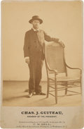 """Photography:Cabinet Photos, Charles Guiteau: A Very Unusual Cabinet Photo of the """"Assassin ofthe President.""""..."""
