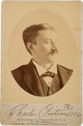 Photography:Signed, Charles Guiteau: Another C.M. Bell Cabinet Photo, This One Boldly Autographed and Dated in Ink....