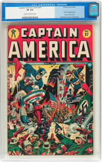Captain America Comics #37 (Timely, 1944) CGC VF 8.0 Cream to off-white pages