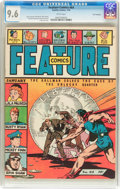 Golden Age (1938-1955):Miscellaneous, Feature Comics #64 San Francisco Pedigree (Quality, 1943) CGC NM+ 9.6 White pages....