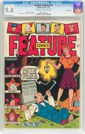 Golden Age (1938-1955):Miscellaneous, Feature Comics #75 San Francisco Pedigree (Quality, 1944) CGC NM 9.4 Off-white to white pages....
