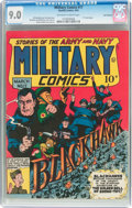 Golden Age (1938-1955):War, Military Comics #17 San Francisco Pedigree (Quality, 1943) CGCVF/NM 9.0 Off-white to white pages....