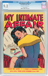 My Intimate Affair #1 (Fox Features Syndicate, 1950) CGC NM- 9.2 Off-white to white pages