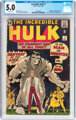 The Incredible Hulk #1 (Marvel, 1962) CGC VG/FN 5.0 Off-white pages