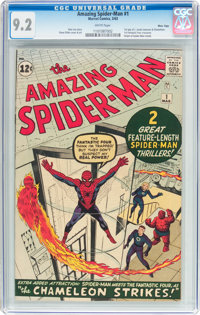 The Amazing Spider-Man #1 Massachusetts Pedigree (Marvel, 1963) CGC NM- 9.2 White pages