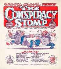 Robert Crumb The Conspiracy Stomp Concert Poster (1969) Condition: Very Good