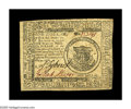 Colonial Notes:Continental Congress Issues, Continental Currency May 9, 1776 $1 About New. One corner fold anda very light center fold separate this bright, boldly sig...