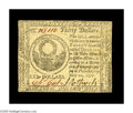 Colonial Notes:Continental Congress Issues, Continental Currency May 20, 1777 $30 New. The margins are close inseveral places on the face, though the back is very nice...
