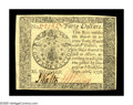 Colonial Notes:Continental Congress Issues, Continental Currency September 26, 1778 $40 Choice About New. Abeautiful note that is only a light center fold away from th...