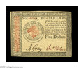 Colonial Notes:Continental Congress Issues, Continental Currency January 14, 1779 $5 Gem New. Beautifullybright and bold, with strong signatures, obvious original embo...