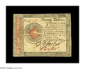 Colonial Notes:Continental Congress Issues, Continental Currency January 14, 1779 $20 Extremely Fine. Ahandsome $20 Continental with both signatures very bold. It's si...