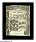 Colonial Notes:Connecticut, Connecticut June 7, 1776 1s Gem New. A real beauty on pure whitepaper. Well-signed, beautifully embossed, nicely centered o...