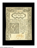 Colonial Notes:Connecticut, Connecticut June 19, 1776 6d Gem New. An uncanceled note with greatoriginal embossing and small, but even, margins all arou...
