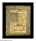 Colonial Notes:Delaware, Delaware January 1, 1776 4s Choice New. Tightly margined on both sides but Gem in all other respects....
