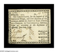 Colonial Notes:Georgia, Georgia June 8, 1777 $4/5 Extremely Fine-About New. The first example of this denomination that Heritage-CAA has handled. Th...