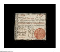 "Colonial Notes:Georgia, Georgia June 8, 1777 $2 Very Fine-Extremely Fine. A beautifulorange-seal ""ship"" Georgia, with good margins, an extremely bo..."
