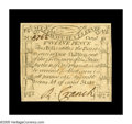 Colonial Notes:Massachusetts, Massachusetts October 16, 1778 12d Choice New. A fully Gem Codfishnote save for a very light scattering of minor aging on t...