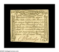 Colonial Notes:Massachusetts, Massachusetts October 16, 1778 1s6d About New. There is a light horizontal fold that can barely be seen on this Gem appearin...