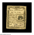 Colonial Notes:Massachusetts, Massachusetts 1779 5s6d Choice Very Fine. While the technical grade is not particularly high, this piece has magnetic eye-ap...