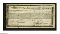 Colonial Notes:Massachusetts, Massachusetts Commodity Bond January 1, 1780 Very Good-Fine,repairs. This certificate is listed in Anderson as MA-20 and co...