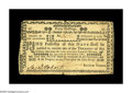 Colonial Notes:New Hampshire, New Hampshire November 3, 1775 40s Very Fine. A central split isheld together by two stamp hinges on the blank back, and th...