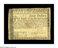 Colonial Notes:New Hampshire, New Hampshire April 29, 1780 $7 Very Fine. Fully signed and issuedand uncanceled. The note exhibits nice even circulation, ...
