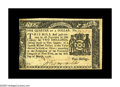 Colonial Notes:New York, New York March 5, 1776 $1/4 About New. Closely margined at the leftof the face and the bottom of the back, but well-signed,...