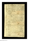 Colonial Notes:North Carolina, North Carolina December, 1771 Strip of Three Very Choice New. Thetop note 2s/6d has the normal needle-hole from when origin...