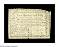 Colonial Notes:North Carolina, North Carolina May 10, 1780 $250 Fine. Very Fine in many of itselements, but it regularly trimmed into the design across th...