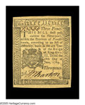 Colonial Notes:Pennsylvania, Pennsylvania June 18, 1764 3d Very Choice New. A beautifullymargined example of this small change note. These low denomina...