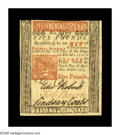 Colonial Notes:Pennsylvania, Pennsylvania April 10, 1775 L5 Very Choice New. A perfect Gem butfor a single tight margin. The colors are ideal, the signa...
