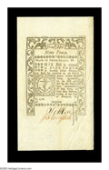 Colonial Notes:Rhode Island, Rhode Island May 1786 9d Choice About New. Hugely margined allaround and held from the Gem grade by a broad diagonal corner...
