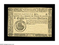Colonial Notes:South Carolina, South Carolina December 23, 1776 $8 Gem New. A wholly unsigned,unnumbered remainder note. One of only a few that we have ev...