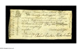 Colonial Notes:Virginia, Virginia September 1, 1775 20s Extremely Fine. By far the finestexample of a 20s James River Bank note that we have handled...
