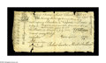 Colonial Notes:Virginia, Virginia September 1, 1775 20s Very Fine. Not much to look at compared to the note in the previous lot, but in actuality, st...