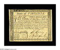 Colonial Notes:Virginia, Virginia May 1, 1780 $2 Very Choice New. A perfect Gem save for thetight top margin. The note is well-signed with perfect p...