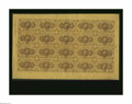 Fractional Currency:First Issue, Fr. 1230 5¢ First Issue Uncut Sheet of Twenty Gem New. A gorgeousuncut sheet with perfect paper surfaces, ideal colors, and...