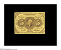 Fractional Currency:First Issue, Fr. 1230 5¢ First Issue Gem New. A nicely margined, wholly original example....