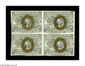 Fractional Currency:Second Issue, Fr. 1244 10¢ Second Issue Block of Four Choice New. Bold bronzing and a delightful back highlight this block of four that ha...