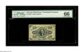 Fractional Currency:Third Issue, Fr. 1255 10c Third Issue PMG Gem Uncirculated 66. The bold embossing is evident even through the PMG holder....