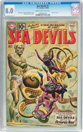 Silver Age (1956-1969):Superhero, Sea Devils #1 (DC, 1961) CGC VF 8.0 Cream to off-white pages....